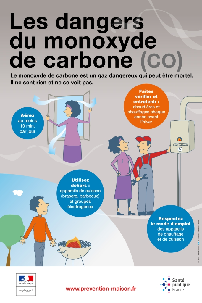 Affiche dangers monoxyde carbone 2018